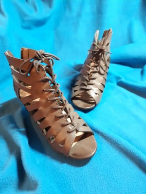 Just Fab Wedge Sandals taupe