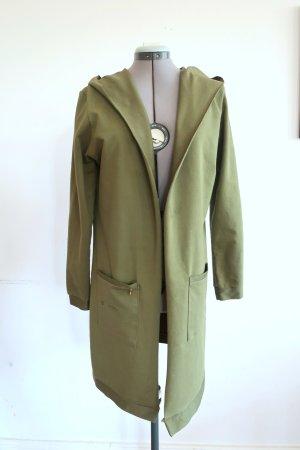 Giacca lunga verde-verde oliva Cotone