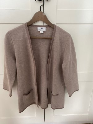 Peter Hahn Giacca in maglia beige-color cammello Lana