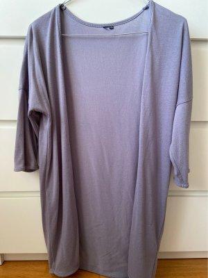Edc Esprit Gilet long tricoté gris-gris clair