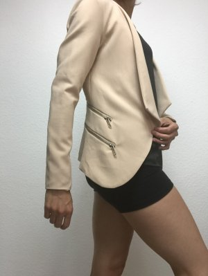 K.Zell Blazer in jersey beige chiaro-argento