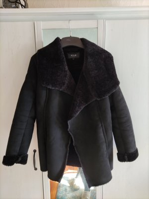 Vila Fake Fur Jacket black