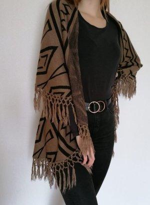 collection pimkie Poncho in maglia nero-marrone