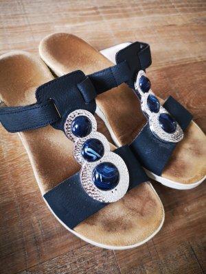 Rieker Sandalo comodo argento-blu scuro