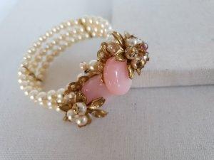 Bracciale beige chiaro-rosa chiaro