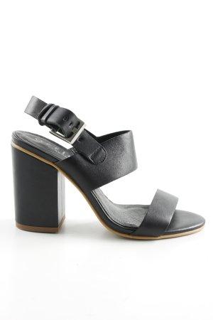 Office High Heel Sandaletten schwarz Casual-Look