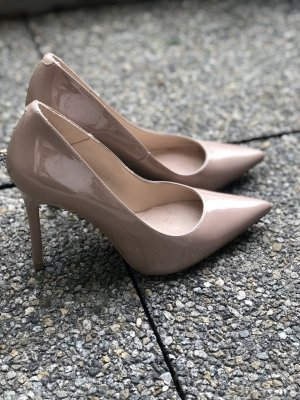 Office Hottie Point Court Heels Nude Patent