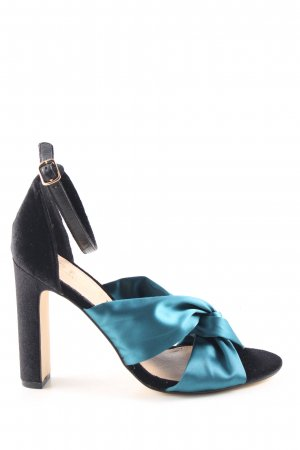 Office London High Heel Sandaletten schwarz-blau Elegant