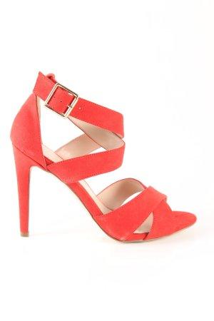 Office London High Heel Sandaletten rot Casual-Look