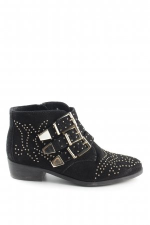 Office London Botas bajas negro-color oro look casual