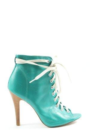 Office London Peep Toe Booties turquoise elegant