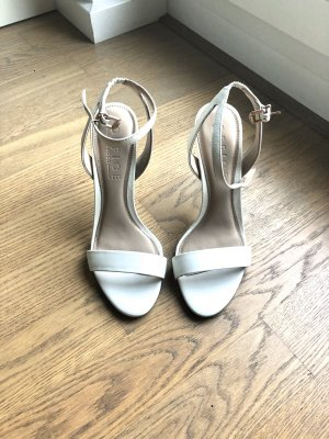 Office London Strapped High-Heeled Sandals white