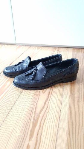 Office London shoes Echtleder schwarze Halbschuhe  38