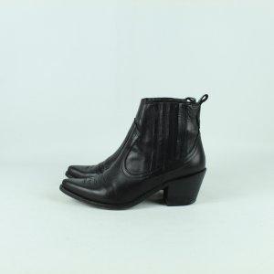 OFFICE LONDON Stiefeletten Gr. 40 schwarz Leder (20/11/105*)