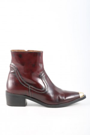 Office London Western-Stiefeletten rot Glanz-Optik
