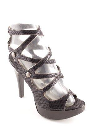 Office Riemchen-Sandaletten schwarz Metallelemente