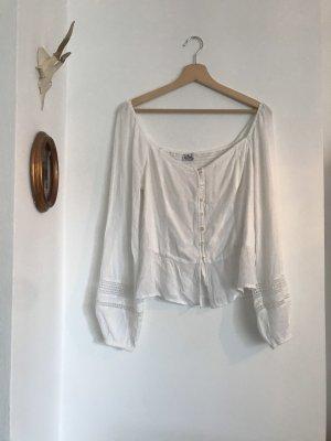 Hollister Camisa tipo Carmen blanco