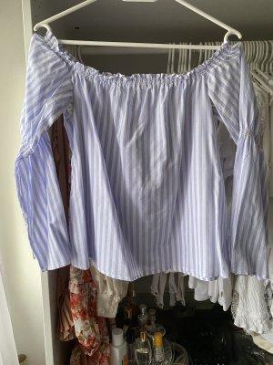 Ivy Rebel Carmen blouse wit-azuur