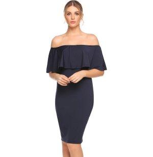 Sukienka bez ramiączek czarny