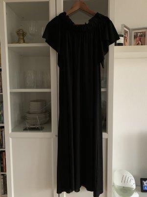 Zara Vestido strapless negro