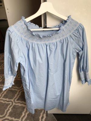 Offshoulder-Kleid von Zara in hellblau