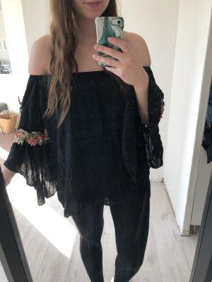 NoName Camisa tipo túnica negro