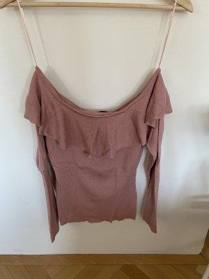 Colloseum Top sin hombros rosa