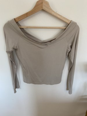 H&M Divided Top sin hombros beige claro