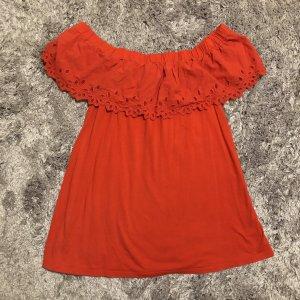 Yessica Top spalle scoperte arancione-rosso