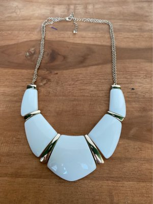 I am Statement Necklace gold-colored-natural white