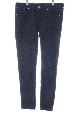 Oge & Co. Five-Pocket-Hose blau Allover-Druck Casual-Look