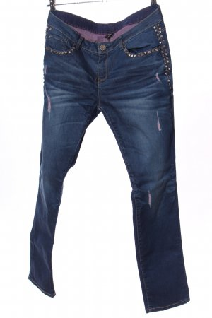 Oge & Co. Jeans vita bassa blu stile casual