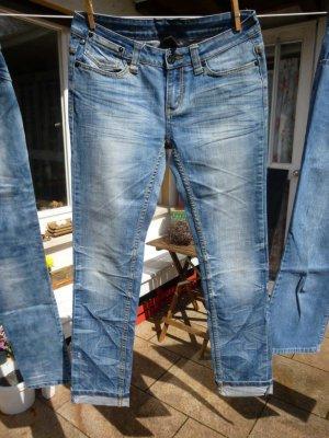 Oge & Co. Jeansy o kroju boot cut niebieski neonowy