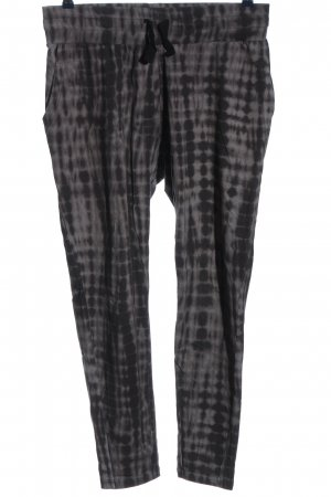 OGNX Sweat Pants black-light grey check pattern casual look