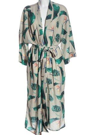 OH APRIL Kimono blanco puro-verde estampado repetido sobre toda la superficie