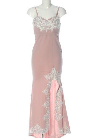 Oh Hello Robe de soirée rose-blanc élégant