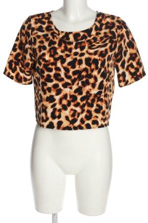 Oh my love Top koszulowy Zwierzęcy wzór W stylu casual