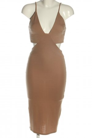 Oh my love Cut-Out-Kleid braun Party-Look