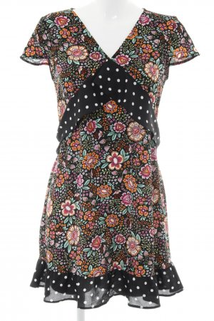 Oh my love Kurzarmkleid mehrfarbig Textil-Applikation