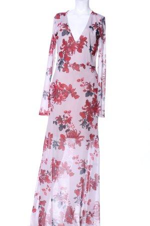 Oh my love Sukienka maxi różowy-czerwony Na całej powierzchni Elegancki