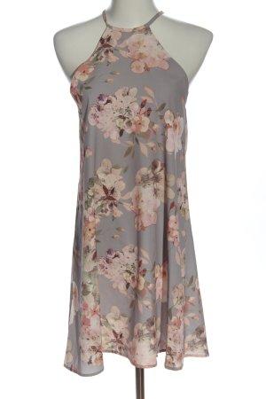 Oh my love Sukienka mini jasnoszary-różowy Na całej powierzchni