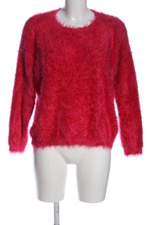 Oh my love Sweter z okrągłym dekoltem czerwony W stylu casual