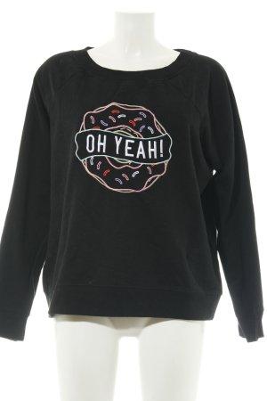 Oh Yeah! Sweatshirt schwarz abstraktes Muster Casual-Look