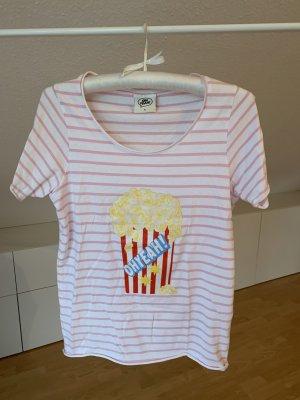 Oh Yeah! T-Shirt mit Popcorn-Druck