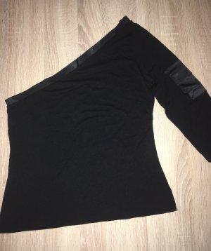 Hallhuber trend Camisa de un solo hombro negro Viscosa