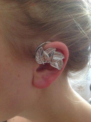 Clip d'oreille argenté