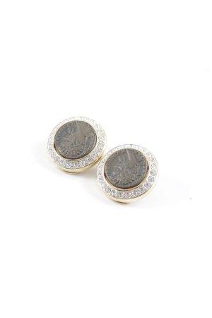 Pendientes de clip color oro-color bronce look vintage