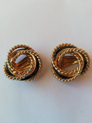 Earclip black-gold-colored