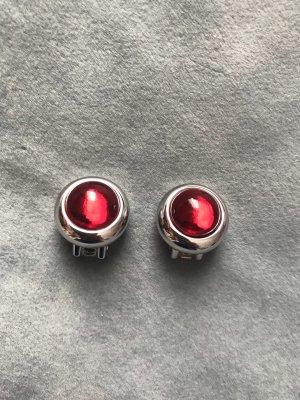 Pierre Lang Oorclips zilver-rood