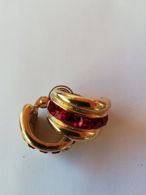 Earclip gold-colored-red